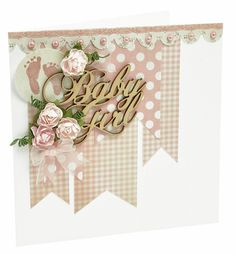 Kaisercraft Baby Girl Baby Scrapbook, Scrapbook Cards, Baby Girl Cards, General Crafts, Welcome Baby, Pretty Cards, Craft Items, Flower Crafts, Creative Inspiration