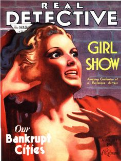 Real Detective Magazine Poster Print RETRO by EncorePrintSociety Real Detective, Magazine Art, Magazine Covers, Pulp Fiction Art, Old Commercials, Beautiful Posters, Poster Vintage, Beautiful Textures, Girls Show