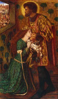 """St George and Princess Sabra"", 1862 / Dante Gabriel Rossetti (1828-1882) / Tate, London, UK"