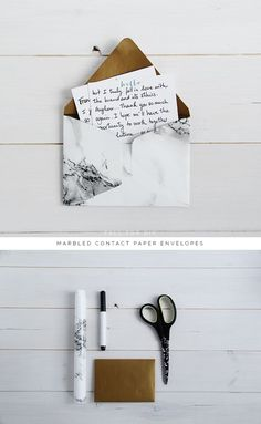 DIY: Marbled Envelopes tutorial