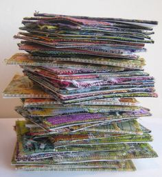 Quilting Gallery Blog: Fabric Collaged Artist Trading Cards (ATCs) – A Tutorial