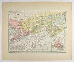 Ontario Canada Map 1899 Large Map Great Lakes Canadian Wedding