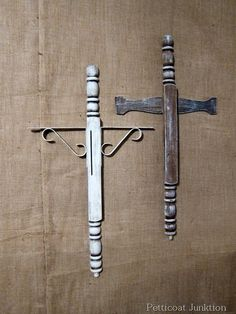 DIY Cross, could use wooden spindles: crafts, Petticoat Junktion