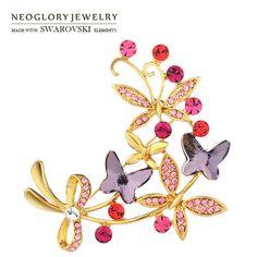Vind meer broches informatie over Neoglory Oostenrijk Crystal & Auden…