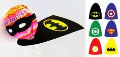 Super chupa chups, ideas para convertir unos simples chupa chups en unos súper caramelos con palo [con plantilla para descargar e imprimir]