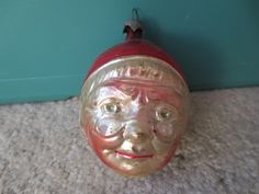 Vintage German Blown Glass Figural Elderly Ornament | eBay