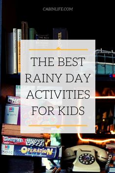April showers might bring May flowers, but they can also bring stir-crazy kids who've been cooped up inside for too long. Here are a few ways to break up the day. Cabin Activities, Rainy Day Activities For Kids, Cupcake Decorating Party, Indoor Picnic, Rain Days, At Home Movie Theater, Childhood Games, Crazy Kids, Home Movies