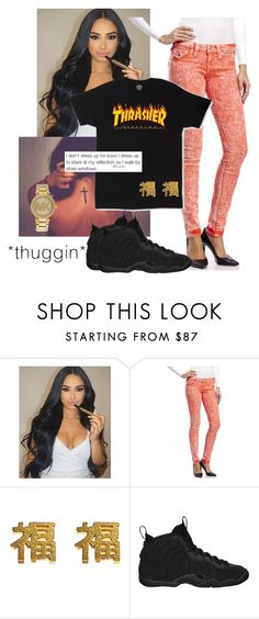 """""""baby i jus wanna show you off, come an show me whatchu all about, made a promise ta each other we gone hold it down, when you wit me you aint got nunthin ta worry bout, come jump in wit me aye an we gone ride it out 🖤😍🍃"""" by superwoman-13 ❤ liked on Polyvore featuring True Religion, yuki nagao, NIKE, Michael Kors and nbayoungboy"""