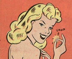 oh snap! Blonde vintage comic book girl retro pop art illustration