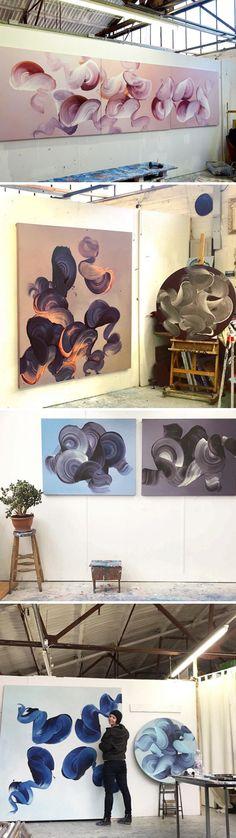 paintings (in studio) by dragica carlin