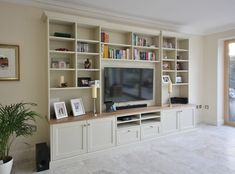 Tv Unit Design What Is It 3 - sitihome Built In Shelves Living Room, Living Room Wall Units, Living Room Cabinets, Living Room Storage, Built In Bookcase, Home Living Room, Living Room Designs, Bookshelves With Tv, Built In Tv Unit