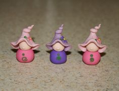 gnome ladies clay figurines so cute! need to make these for the fairy garden