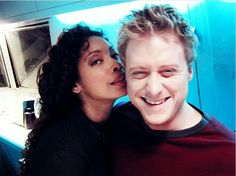 Gina Torres and Alan Tudyk from Firefly. ♥ Wash and Zoe are the best couple ever. And he's such a babe.