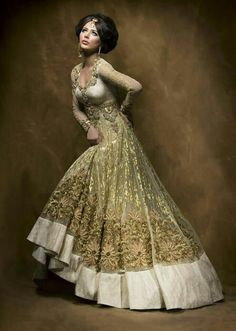 Gold Indian dress. Absolutely breathtaking.