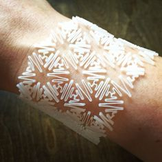 Bracelet ispired by Mesostructured Cellular by sfiamma in MakerBot Flexible Filament thing:308644