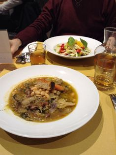 Vegetarian dinner at Eataly Rome