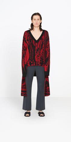 BALENCIAGA Long Sleeves V Neck Sweater Knitwear D f