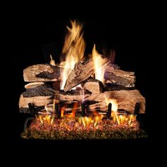 36 Real Fyre Split Oak Designer Plus Vented Gas Logs From Starfire Direct Wood Burning