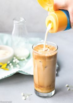Vanilla Frappe Recipe - a super simple and refreshing iced coffee drink, made with Simply Pure® Vanilla Coffee Creamer.