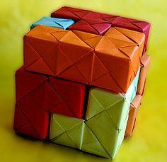 """Un rompecabezas para el verano """"Cubo Soma"""" (de papel) - Usos educativos de la """"Papiroflexia"""""""
