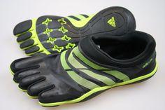 ADIDAS AdiPure Black Barefoot Trainer Minimalist Running Toe Shoes Men's 8.5…