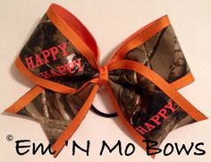 Happy Happy Happy Duck Dynasty Camo Bow by emNmoBows on Etsy, $12.00