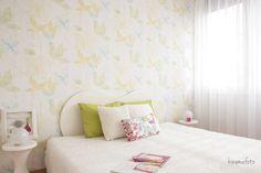 Hálószoba, bedroom, pille szék, home staging, lakberendezés, lakberendező, home stager
