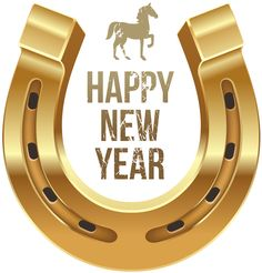 Happy New Year With Horse And Horseshoe PNG Clipart - Horse New Year's Day Wish Clip Art PNG - tennessee walking horse, brand, brass, christmas, equestrian Happy New Year Png, Vintage Happy New Year, Happy New Year Message, New Year Wishes Messages, Day Wishes, Clipart, Imprimibles Paw Patrol, Happy New Year Wallpaper, New Year Art