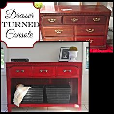 Two It Yourself: Thrifted Dresser to TV Stand/Buffet/Entryway Table
