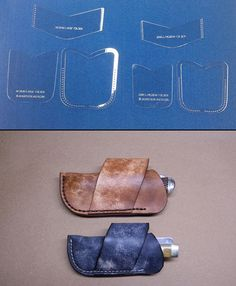 CROSS DRAW KNIFE SHEATH TEMPLATE SETS FOR LEATHERCRAFTERS  S-M-L SIZED FOLDERS #BLACKRIVERLASER