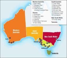 Wine Maps- Australia