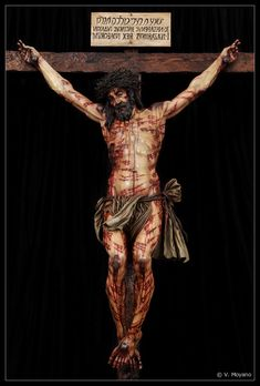 The Crucified Christ as based on the markings on the Shroud of Turin by, Juan Manuel Miñarro Lopez Seville, Spain. Jesus Our Savior, Jesus Art, Jesus Father, God Jesus, Christ The King, The Cross Of Christ, Image Jesus, Sainte Therese, Cross Pictures