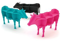 amazing bookcase shaped like cows - 20 Original and out of the ordinary bookcases