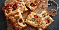 This light-touch focaccia is great for beginner bakers and results in a fluffy bread. Stud it with tomatoes and rosemary for extra flavour.