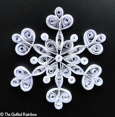Quilled Snowflake, Handmade Christmas Ornament, White Paper Snowflake, Winter Wedding Favor, Coworkers Gift, Teachers Gift, Hostess Gift via Etsy