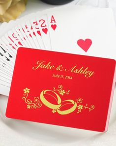 Get your poker face ready: When you see these customized playing cards in person, you'll want to smile from ear to ear!