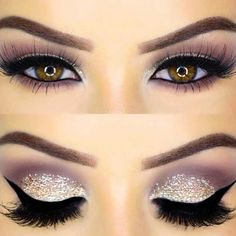 Glitter Eye Makeup Look for New Year&aposs Eve. Owless - #MakeupTutorial#MakeupForBeginners#MakeupVanityDiy