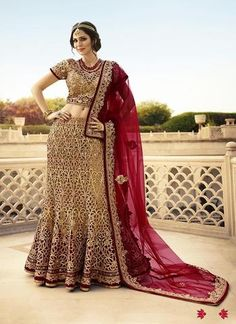 Brown Shimmer Bridal Buy Lehenga Online ,Indian Dresses - 1