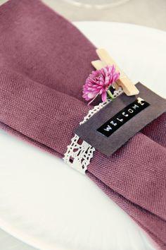 STYLIZIMO BLOG: { Table setting: Purple outside }
