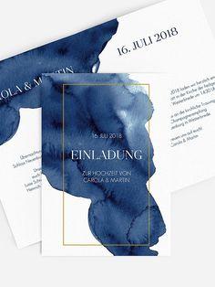 "Hochzeitseinladung ""Modern Aquarelle"" – The Best Ideas Wedding Card Design, Wedding Designs, Wedding Cards, Wedding Events, Watercolor Wedding Invitations, Modern Wedding Invitations, Wedding Stationery, Corporate Event Design, Event Branding"