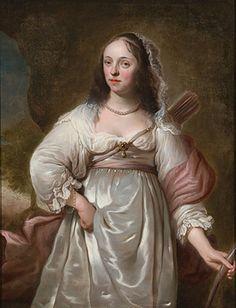 Ferdinand Bol. Portrait of a Woman Dressed as a Huntress (Figge Art Museum)