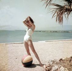 Beautiful Color Photographs of 19 Year-Old Brigitte Bardot at the Cannes Film Festival in 1953