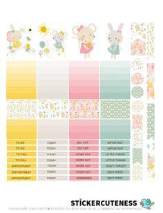 Free Printable Spring Garden Planner Stickers from StickerCuteness