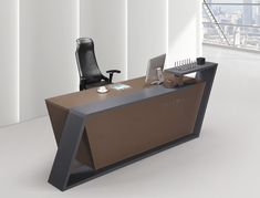 Office reception furniture designs reception area office furniture office counter design wooden material hot sell in Curved Reception Desk, Hotel Reception Desk, Reception Desk Design, Reception Furniture, Office Table Design, Modern Office Design, Office Furniture Design, Furniture Ideas, Cash Counter Design