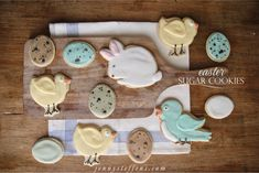 Jenny Steffens Hobick: Easter Sugar Cookies - Chicks, Speckled Eggs, Blue Birds & Bunnies