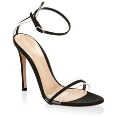 Gianvito Rossi Portofino Ankle-Strap Sandals (47.140 RUB) ❤ liked on Polyvore featuring shoes, sandals, heels, ankle tie sandals, ankle wrap sandals, stilettos shoes, ankle strap heel sandals and stiletto high heel shoes