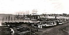 hobart_c_1860 ... transportation had just ended. Salamanca Place can be seen on the right.