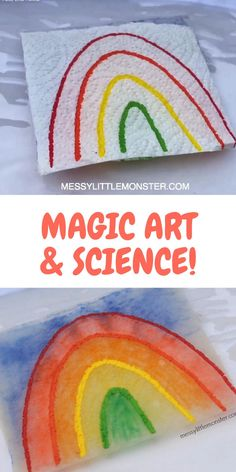 MAGIC DRAWING PAPER TOWEL ART & SCIENCE EXPERIMENT FOR KIDS