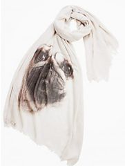 "Osolee — The ""Mr. Pug"" Scarf $55.00 http://osolee.ca/products/the-mr-pug-scarf"