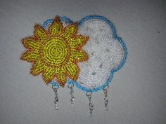 Bead embroidery April weather